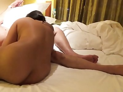 Desi Indian Busty Wife Blowjob and Fucked in Doggy