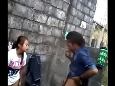village girl fucking with friend at broken house