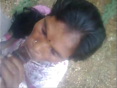 indian maid blowjob cumshot outside