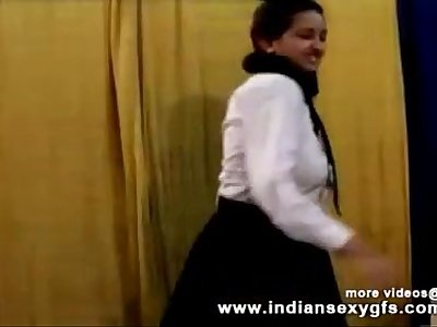 Horny Hot Indian PornStar Babe as School girl Squeezing Big Boobs and masturbating Part1 - indiansex